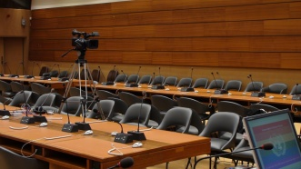 On location at the UN
