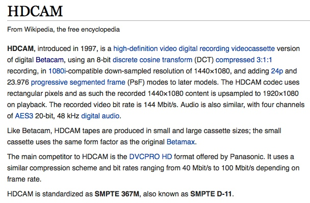 HDCAM Wiki