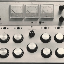 8-channel (4 stereo) mixing unit.