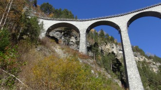 Main Landwasser Viaduct - three of the six spans