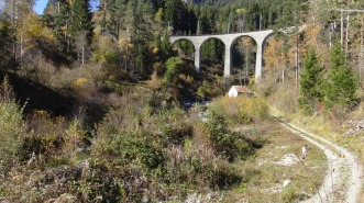 """""""North Bridge"""" (Schmittentobel Viaduct) to the north-west of the main viaduct"""