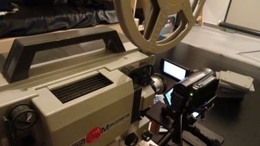 Digital archiving – celluloid 8mm film |